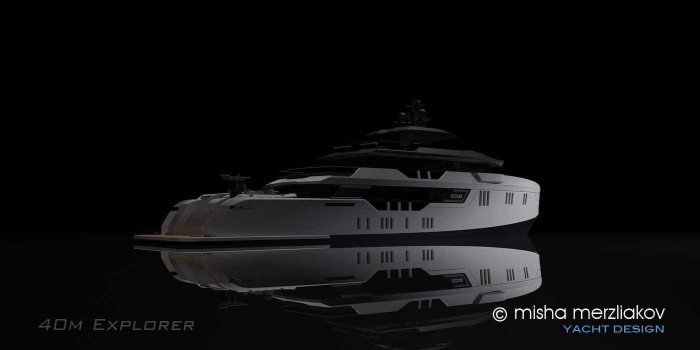 GCX40 Evolution Yachts low aft